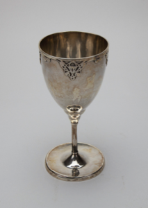 Image of Silver Chalice with Abstract Design