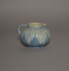 Image of Creamer with Stylized Floral Design