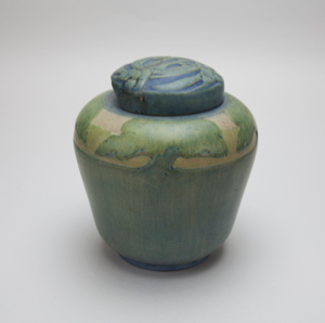 Image of Jar with Tree Design and Lid