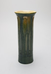 Image of Vase with Day Lily Bud Design