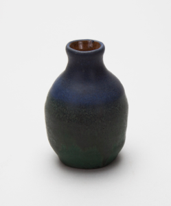 Image of Small Vase with Dark Blue-Green Glaze