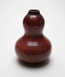 Image of Vase with Gourd Design in Copper Reduction Glaze