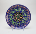 Image of China Painted Plate with Owen Jones Inspired Design