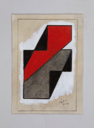 Image of Untitled (Red, Grey and Black with White Background)