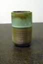 Image of Cup, Lichen Ware with Ribbed Design