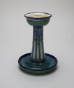 Image of Candlestick with Stylized Periwinkle Design