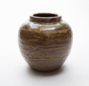Image of Vase of Warbler Ware with Mocha Glaze
